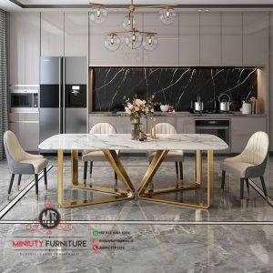 design meja makan mewah modern stanlis terbaru