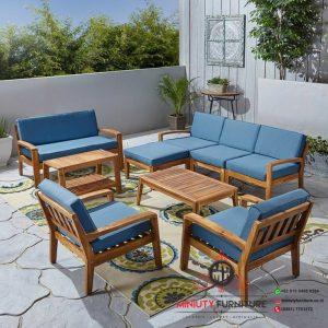 kursi tamu outdoor minimalis terbaru kayu jati