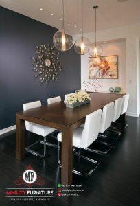 meja makan minimalis modern chairs 8