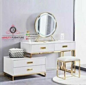model meja rias putih mewah modern terbaru