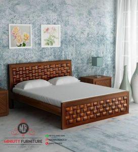 tempat tidur kayu jati model anyaman terbaru