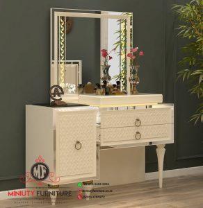 meja rias putih mewah elegant model meja rias putih