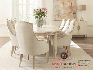 model meja makan klasik modern meja makan dudukan busa