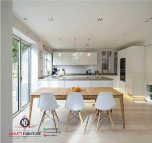 design kitchen minimalis modern putih hpl terbaru