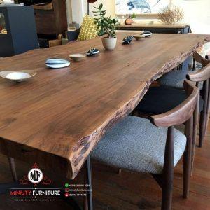 meja makan kayu trembesi meja makan blok kayu
