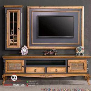 model bufet panel tv kayu klasik modern