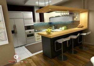 model kitchen dan minibar minimalis hpl murah