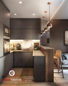 kitchen set mewah elegant modern plywood hpl