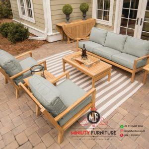 kursi taman model minimalis modern kayu jepara