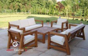 kursi tamu outdoor minimalis kayu jati jepara