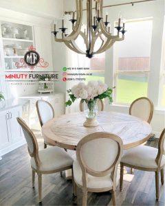 meja makan panjang kursi 8 clasik modern